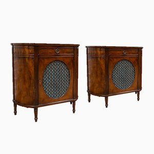 Antique Sheraton Style Sideboards, Set of 2