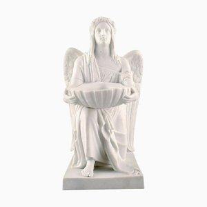 Antique Figurine in Biscuit The Angel of Baptism from Royal Copenhagen