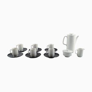 Porcelain Noire Mocha Service by Tapio Wirkkala for Rosenthal, 20th Century, Set of 15
