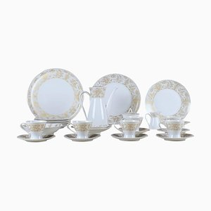 Coffee Service with Gold Decoration by Bjorn Wiinblad for Rosenthal, 20th Century, Set of 30