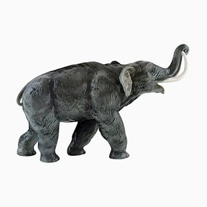 Large Mammoth or Elephant in Hand Painted Porcelain from Rosenthal, 1930s