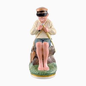 Figurine Porcelaine Jeune Garçon en Porcelaine de Royal Copenhagen, Début 20ème Siècle