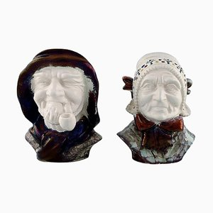 Heads National Costume by Michael Andersen for Bornholm, 20th Century, Set of 2