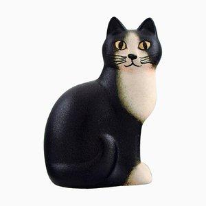 Cat in Glazed Ceramics by Lisa Larson for K-Studion & Gustavsberg, Late 20th Century