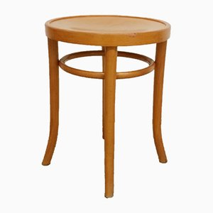 Beech Bentwood Stools from Ligna, 1960s, Set of 4