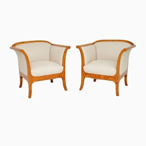 Swedish Biedermeier Armchairs, Set of 2