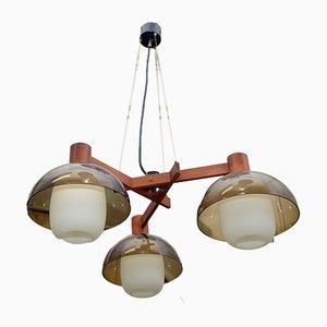 Lampada da soffitto moderna in vetro e plexiglas di Stilux, Italia, 1957