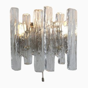 Austrian Iced Glass Sconce by J. T. Kalmar for Kalmar, 1970s