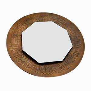 Vintage Bronze Mirror by Furgeri