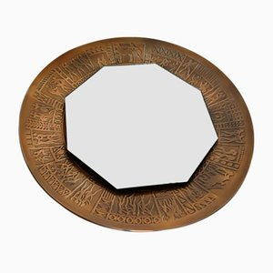 Vintage Bronze Spiegel von Furgeri