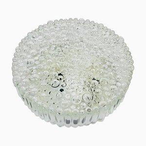 Deutsche Bubble Glas Deckenlampe von Glashütte Limburg, 1960er