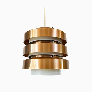 Copper and Metal Pendant Lamp from GDR, 1960s
