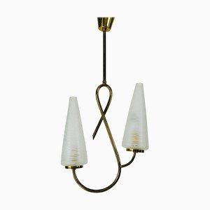 Lampe à Suspension Mid-Century Attribuée à Maison Lunel, France, 1950s
