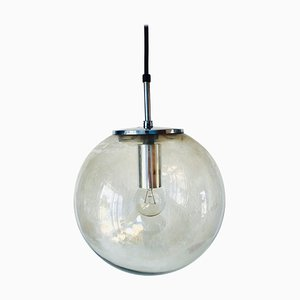 Large Glass Ball Pendant Lamp from Glashütte Limburg, 1970s