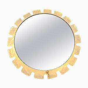 Round Acrylic Illuminated Mirror from Hillebrand, 1970s