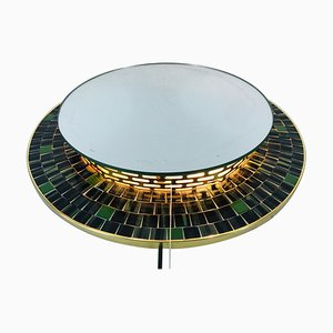 Mid-Century German Brass Illuminated Mirror Attributed to Hillebrand, 1960s