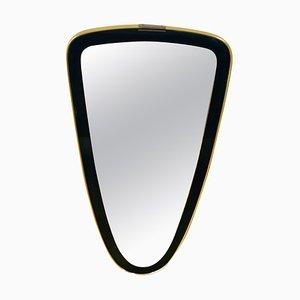 Italian Brass Asymmetrical Wall Mirror, 1960s
