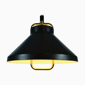 Brown Metal and Brass Pendant Lamp by Jo Hammerborg for Fog and Morup, 1970s