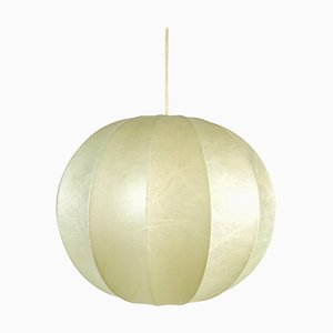 Mid-Century Italian Round Cocoon Pendant Lamp, 1960s