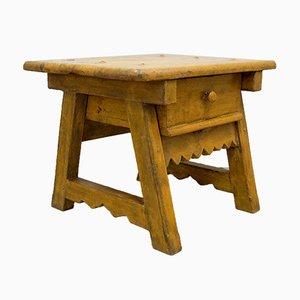 Table d'Appoint ou Table Basse Antique avec Tiroir, Espagne