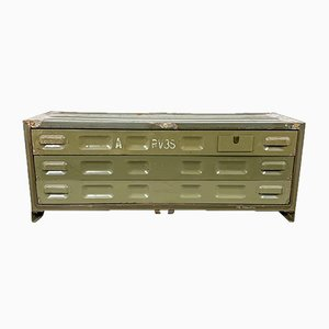 Vintage Military Bank of Drawers