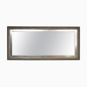 19th-Century Antique White Gold Gilded Mirror