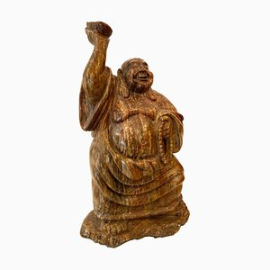Antique Chinese Marble Buddha Sculpture, 1900s