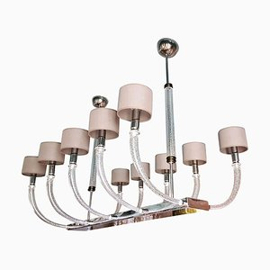 Large Mid-Century Modern Murano Glass 10-Light Chandelier by Gianni Seguso for Seguso, 1980s