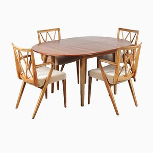 Dutch Dining Table & Chairs Set by A. A. Patijn for Zijlstra Joure, 1950s, Set of 5