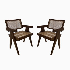 Chandigarh Dining Chairs by Pierre Jeanneret, 1950s, Set of 2