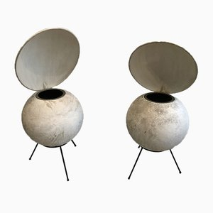 Lacquered Black Tripod Model BS50 Speakers from Elipson, 1953, Set of 2