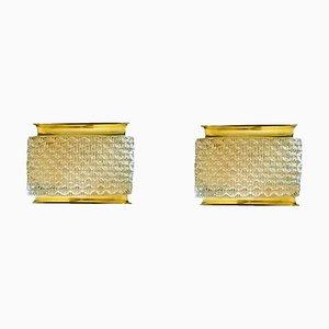 Mid-Century Modern Brass & Murano Glass Sconces by J. T. Kalmar for Kalmar, 1970s, Set of 2