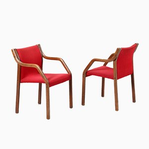 Swedish Wooden Dining Chairs, 1950s, Set of 10