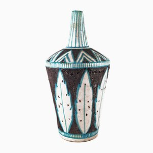 Vase Mid-Century Attribué à Guido Gambone pour Vietri, Italie