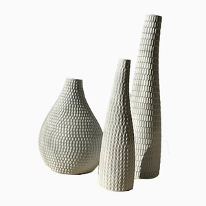 Stoneware Model Reptile Vases by Stig Lindberg for Gustavsberg, 1953, Set of 3