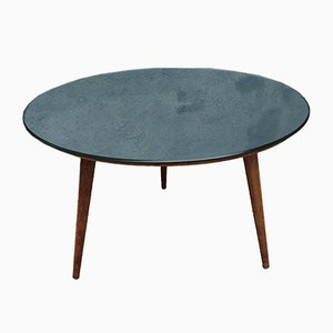 Vintage Tripod Mirror Coffee Table, 1950s