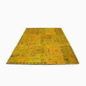 Tappeto annodato a mano con patchwork di lana, 2001