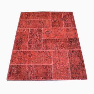Hand-Knotted Wool Patchwork Carpet, 2001