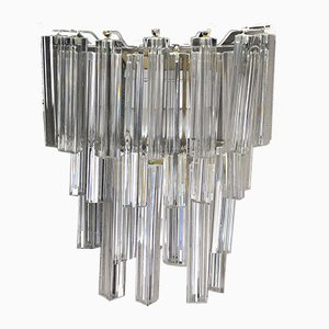 Apliques Triedri de cristal de Murano de Venini, años 60. Juego de 2