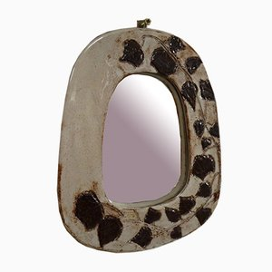 Ceramic Mirror by Jean Claude Malarmey, 1960s