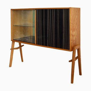 Wooden Bar Cabinet by Bohumil Landsman and Hubert Nepozitek for Jitona, 1960s