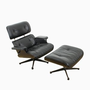 Armchair & Stool by Charles & Ray Eames for Vitra, 2001