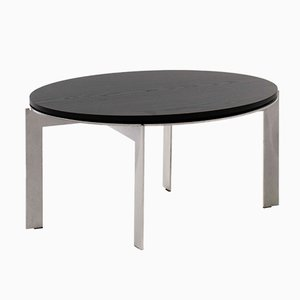Black Ash Wood Side Table Joined E34.4 by Barh
