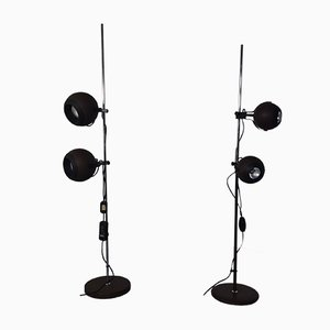Space Age Adjustable Floor Lamps, 1970s, Set of 2