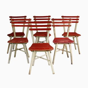 Garden Chairs from TON, 1950s, Set of 6