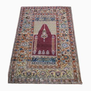 Antique Turkish Wool and Cotton Carpet