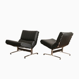French Lounge Chairs by Étienne Fermigier for Meubles et Fonctions, 1960s, Set of 2