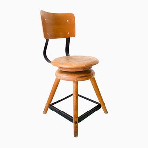 Mid-Century Industrial Swivel Workshop Chair