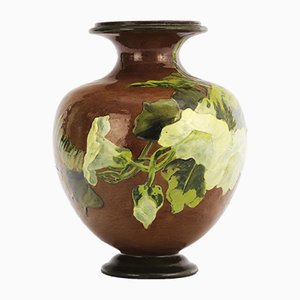 Impasto Stoneware Ovoid Vase by Rosa Keen for Doulton Lambeth, 1887