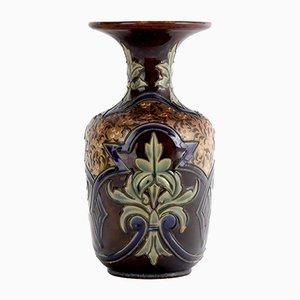 Vase Art Nouveau en Grès par Eliza Simmance pour Doulton Lambeth, 1884